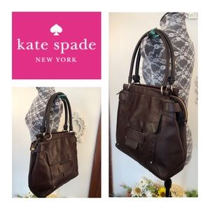 Auth Kate Spade Brown Leather Bag